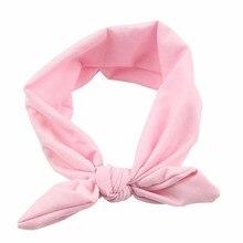 New trendy Baby Kids Girls headband cute Rabbit Bow Ear Hairband Headband Turban Knot Head Wraps for girl head wear best gift