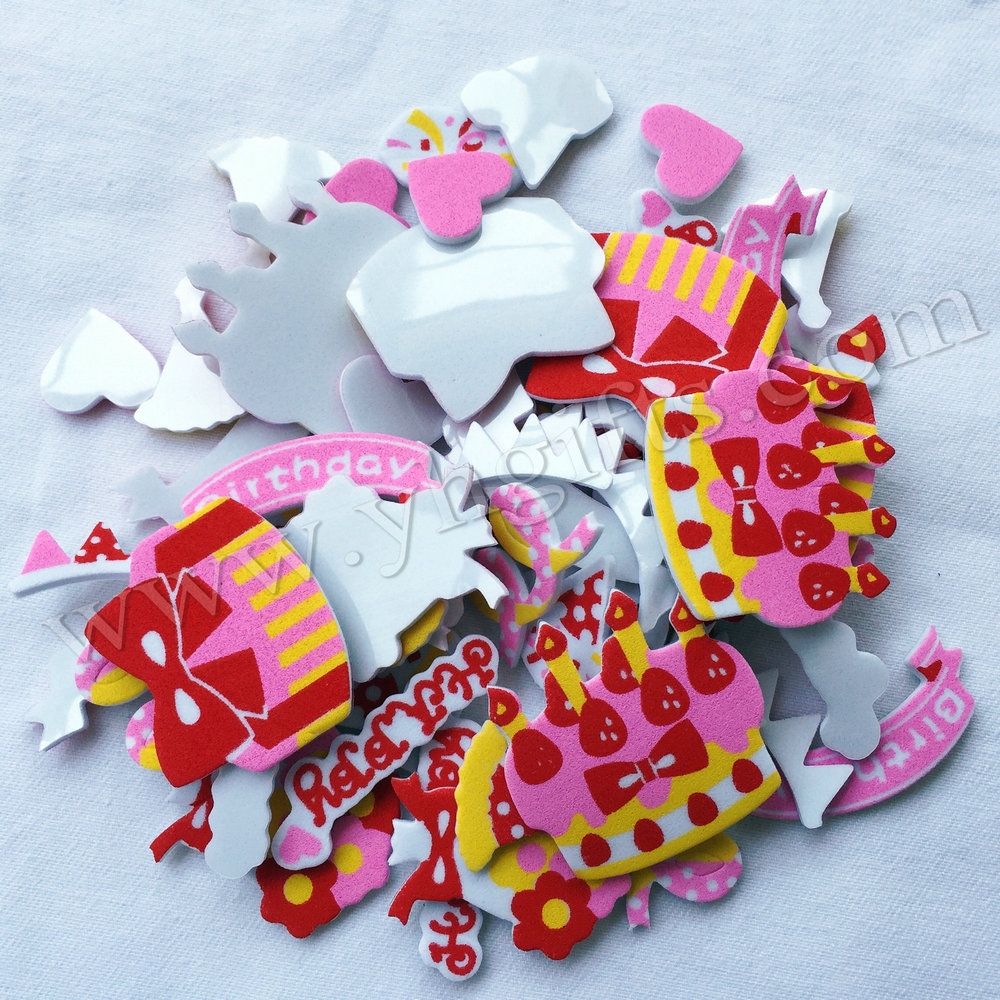 300PCS(5bag)/LOT,Birthday foam stickers,Kids toy.Scrapbooking kit.Early educational DIY.kindergarten crafts.Classic toys.OEM toy