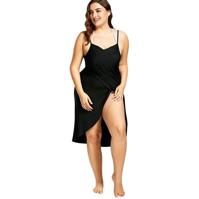 bde1a627d4 US $8.94 31% OFF|Plus Size Pareo Beach Cover Up Wrap Dress Bikini Swimsuit  Bathing Suit Cover Ups Robe De Plage Beach Wear Tunic kaftan Swimwear-in ...