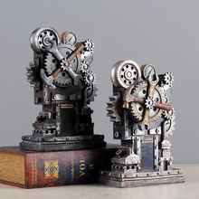 Retro Music Box Ornaments Creative Windmill Industrial Machinery Wind Decoration Home Furnishing Living Room Decor