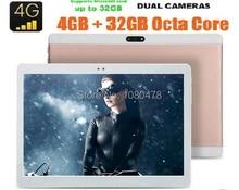 2017 Caliente Nueva 10 pulgadas 4G LTE Tablet * 1920 de 1200 MEGAPÍXELES 4 GB RAM 64 GB ROM de Doble Cámara de Pantalla IPS Octa Core tabletas de 10.1 Envío Gratis