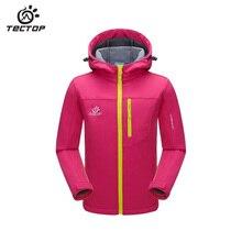 TECTOP Softshell Jacket Kids Waterproof Windbreaker Classic Jacket Boy Girl Sport Hoodies Jacket Spring Autumn Child Trench Coat