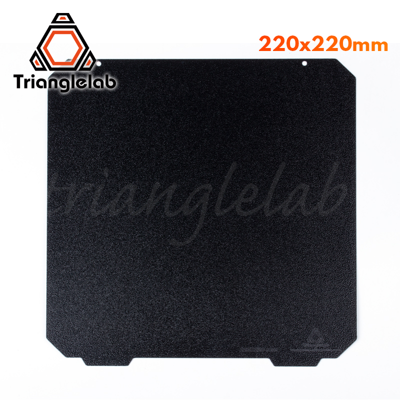 Trianglelab 220 X 220 Double Sided Textured PEI Spring Steel Sheet Powder Coated PEI Build Plate For Anet A8 Robo R2 Wanhao Etc