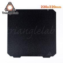 Trianglelab 220X220 Doppelseitige Strukturierte PEI Frühling Stahl Blatt Pulver Beschichtet PEI Bauen Platte Für Anet A8 Robo r2 Wanhao Etc