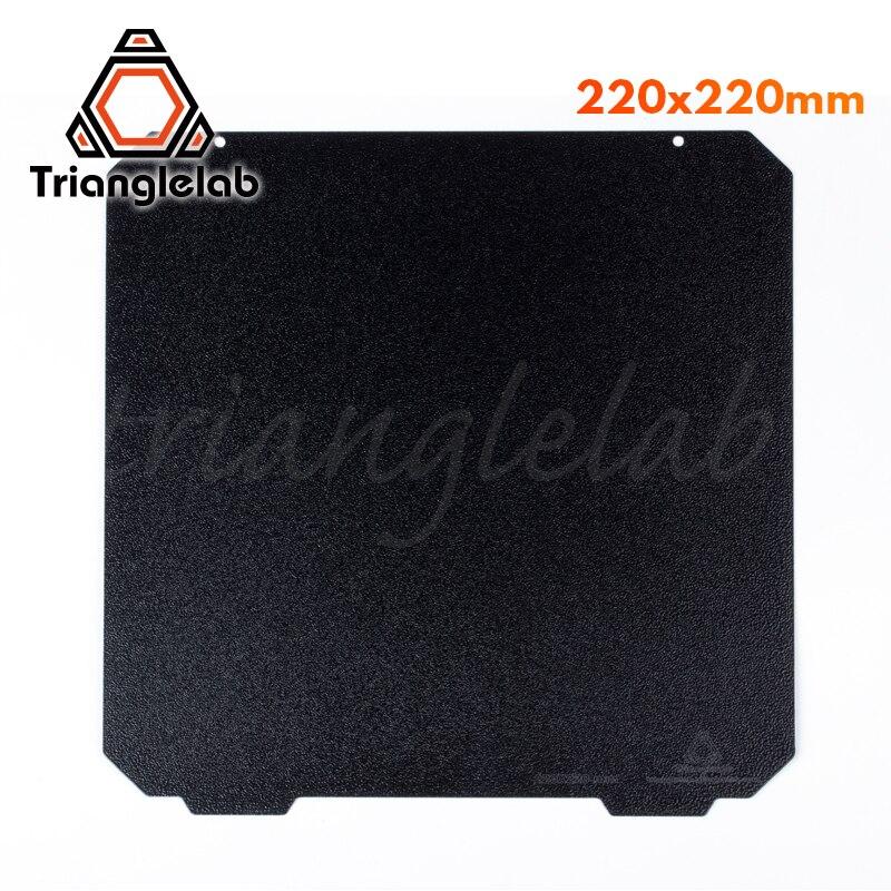 Trianglelab 220X220 Dupla face Placa PEI PEI Primavera Chapa de Aço Em Pó Revestido Texturizado Construir para Anet A8 robo wanhao r2 etc