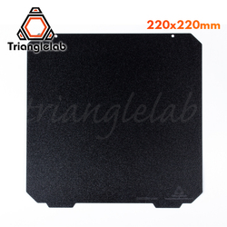 Trianglelab 220x220 dupla face texturizado pei primavera chapa de aço em pó revestido pei construir placa para anet a8 robo r2 wanhao etc