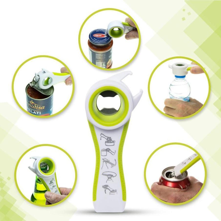ZMHEGW 5 ב 1 פונקציה רב פונקציה רבת נירוסטה פלסטיק בקבוק צנצנת יכול לפתוח בירה פותחן קופסות כלי מטבח טובים כלים