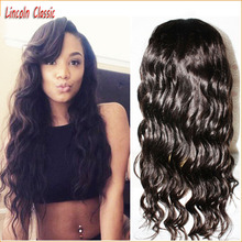 Cheap And Best Quality Unprocessed Virgin Peruvian Lace Front Wig Body Wave Glueless Lace Wigs With Side Part Bleached Knots