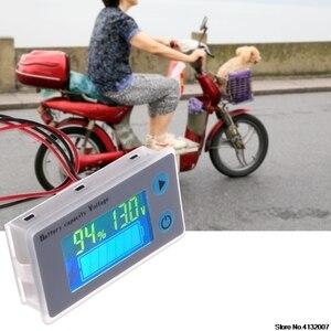 Image 5 - バッテリー容量インジケータ電圧モニタ 10 100V ユニバーサルバッテリ容量電圧計テスター液晶車の鉛酸インジケータ