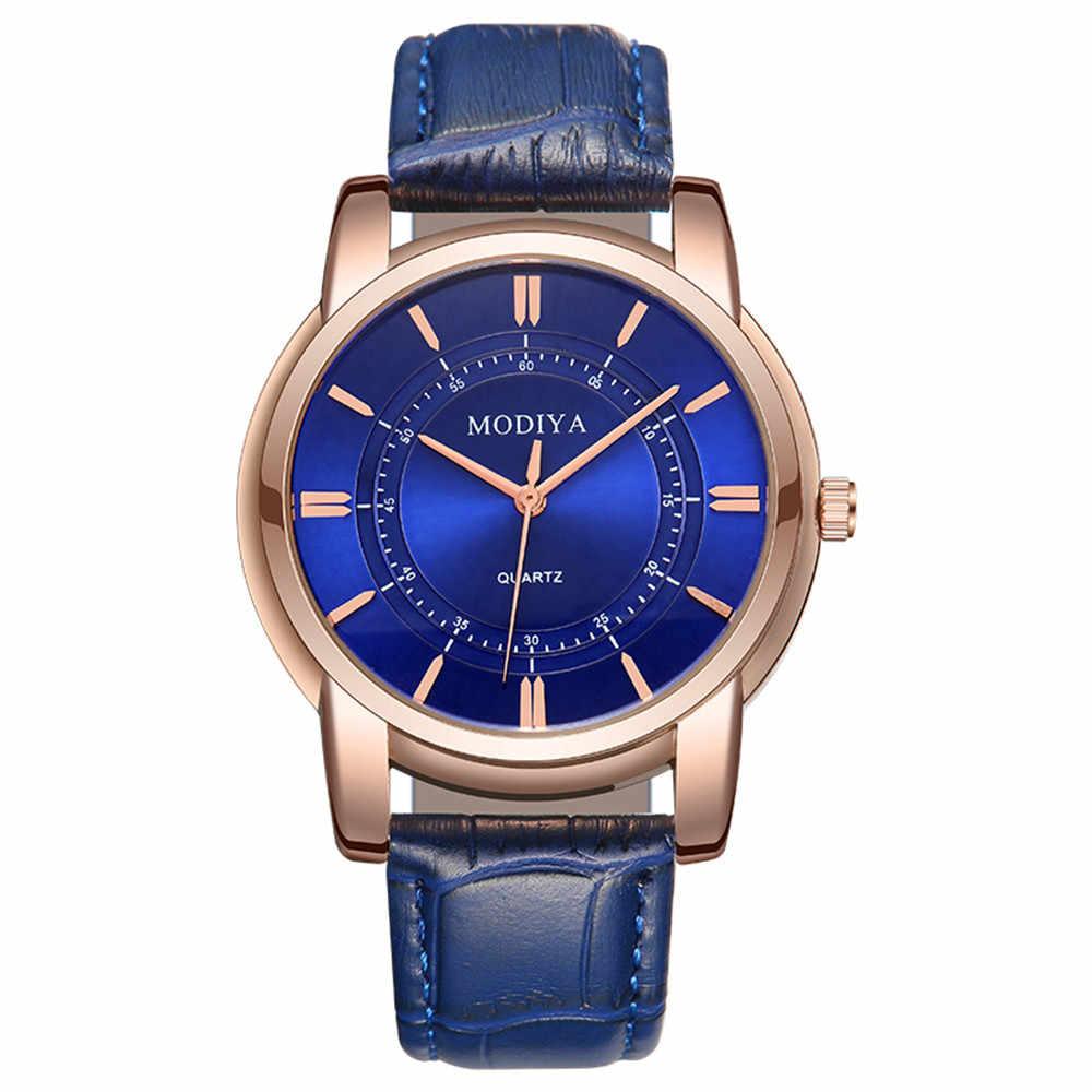 אופנה עמיד למים רצועת עור קוורץ אנלוגי יד שעונים שעון נשים נירוסטה zegarek damski erkek kol saati 50