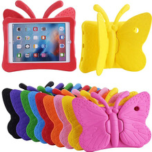 New Children Cute butterfly for 9.7″ Apple iPad Professional EVA drop resistance Wing desk stand holder protecting pill PC again case cowl