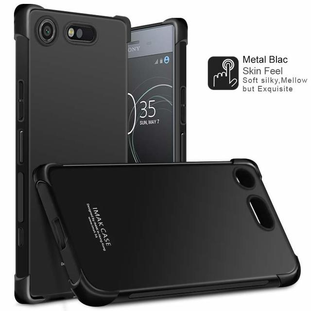 buy online fc666 c77a9 US $6.17 5% OFF|IMAK Case For Sony Xperia XZ1 Compact Shock resistant  Shockproof Silicone Soft Transparent TPU Cover sFor Sony XZ1 Compact  Case-in ...