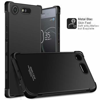 IMAK Case Voor Sony Xperia XZ1 Compact schokbestendig Schokbestendig Siliconen Zachte Transparante TPU Cover sFor Sony XZ1 Compact case