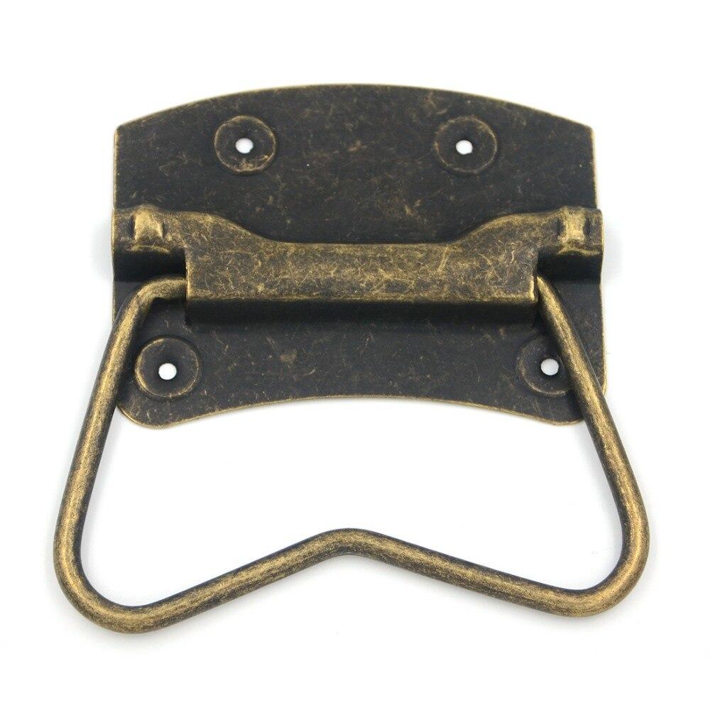 2 шт. 87x65 мм ящика шкафа Handle тянуть деревянный ящик двери шкаф бронза Винтаж шкаф новый