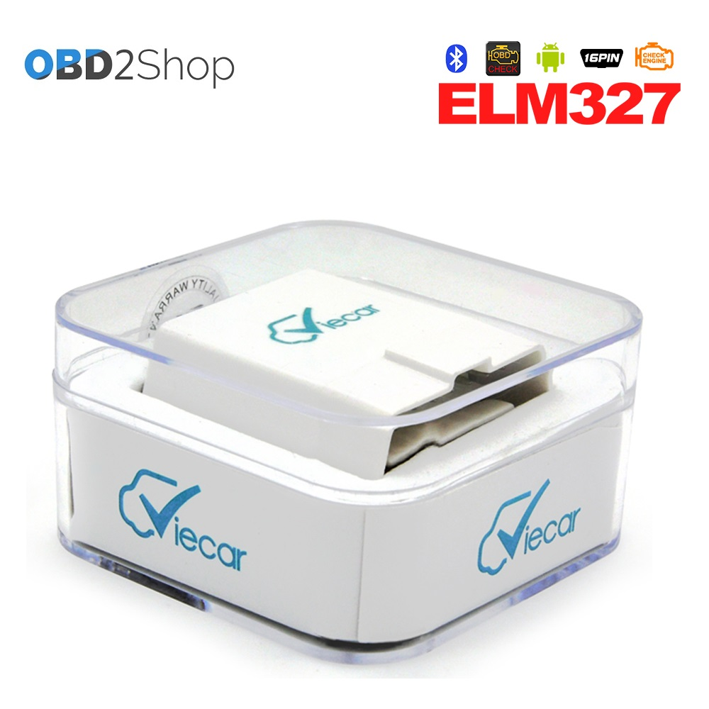 Viecar 4.0 ELM327 Bluetooth OBD II auto diagnostic Interface elm 327 Works On Android &  ...