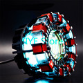 Cool! escala 1:1 Iron Man Arc Reactor Reactor precisa para montar diâmetro de 8 cm com Luz LED Action Figure Toy Presente do Miúdo FB0103
