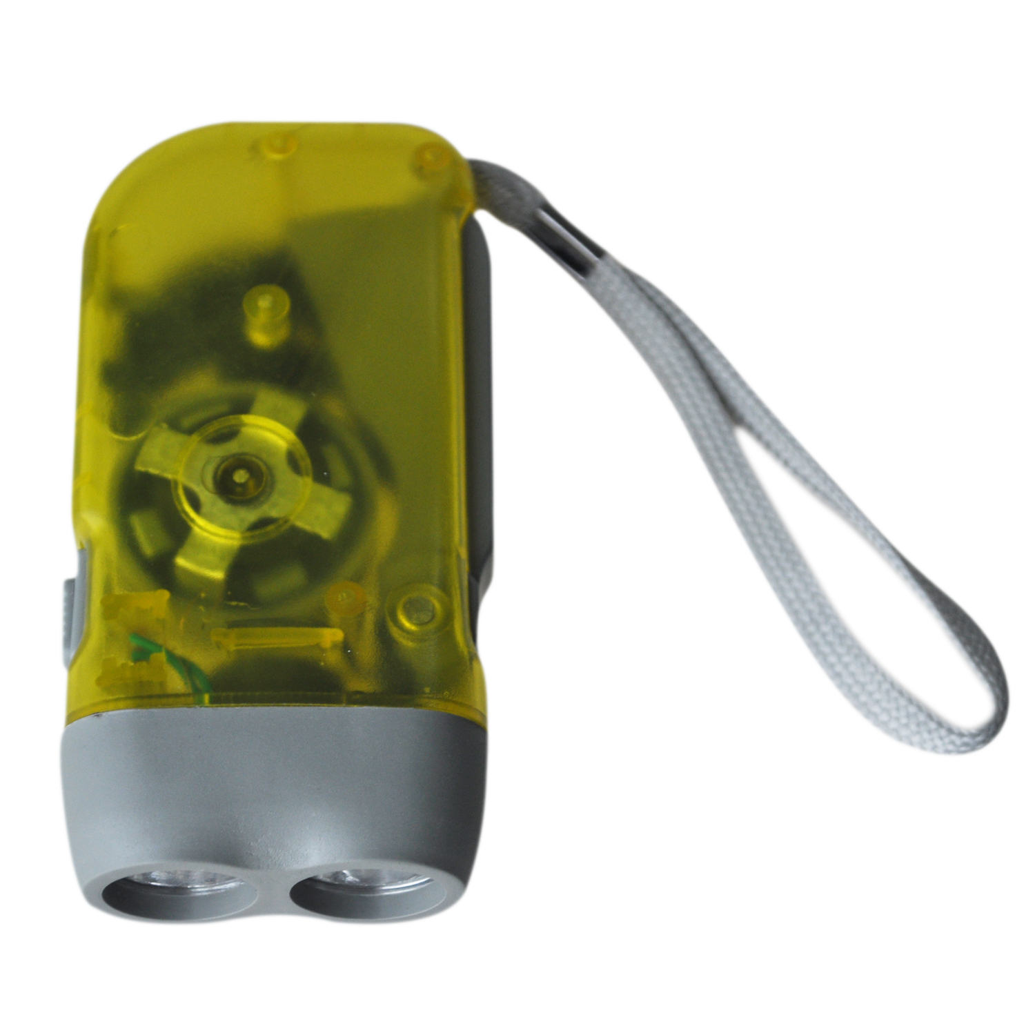 Torch Flashlight Dynamo 2 White LEDs For Camping
