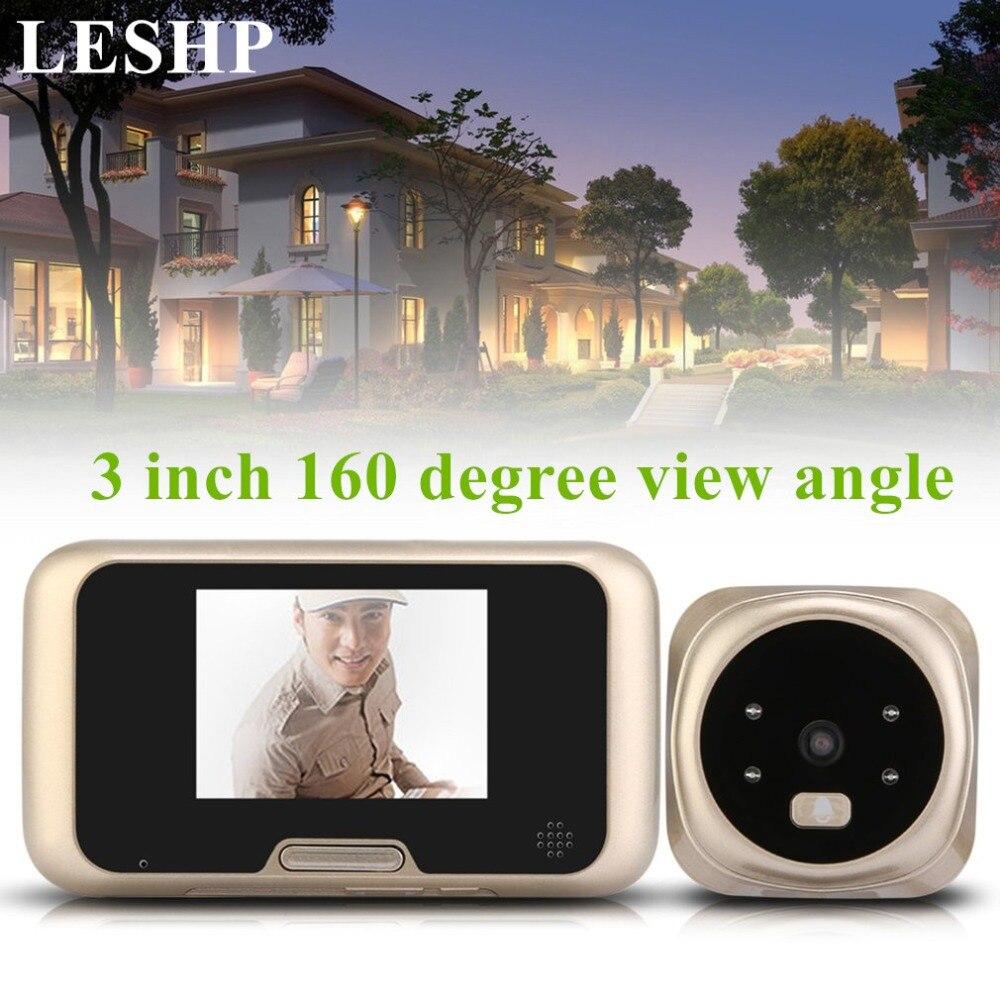 LESHP 3,0 дюймов TFT ЖК-дисплей видео Камера глазок Беспроводной зум Камера дверной звонок 160 градусов широкий зритель Ночное видение дверной Зво...