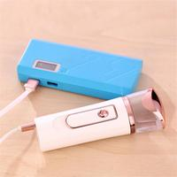 USB Nanometer Facial Moisturizing Hydrometer Cold Sprays Beauty Evaporator Mobile Power Supply Easy Carry Nano Mist Spray Facial Steamer