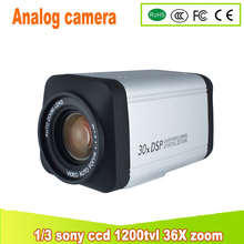 yunsye Free shipping 36X ZOOM CAMERA 1/3 SONY CCD 700TVL Box Camera PTZ Analog camera BNC HD Integrated