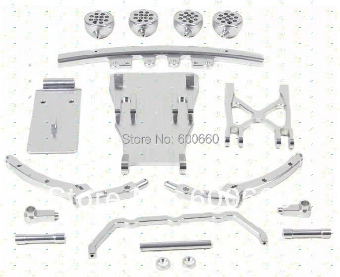 Baja upgraded parts 5T 5SC CNC Alloy Front Bumper set