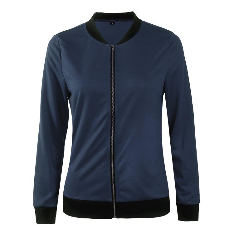 Hot Sprzedaż Jesień Tanie Ubrania Kobiet Małe Krótkie Kurtki Z Długim Rękawem Zipper Fly Outwear Kurtki Płaszcze Slim Cienkie Stylu topy Coat 10
