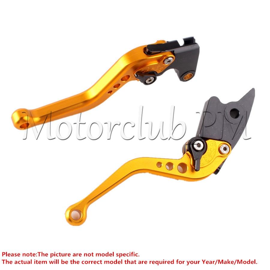 Short Brake Clutch Levers For Honda CBR 600 F2 F3 F4 F4I 91-07 CBR900RR CBR900 RR 1993-1999 1994 95 1998 Gold motorcycle short brake clutch levers for honda 1993 1999 cbr 900rr