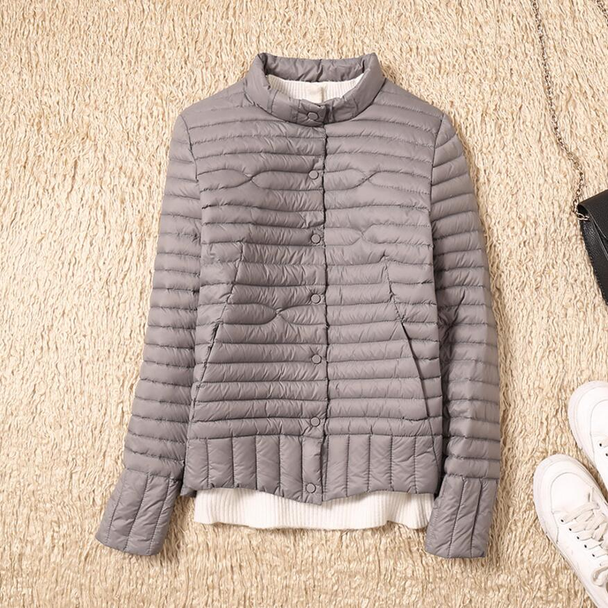 2019 Winter Women Ultra Light Down Coat Warm White Duck Down Lightweight Parkas Outwear Female Thin Slim Short Jacket Top