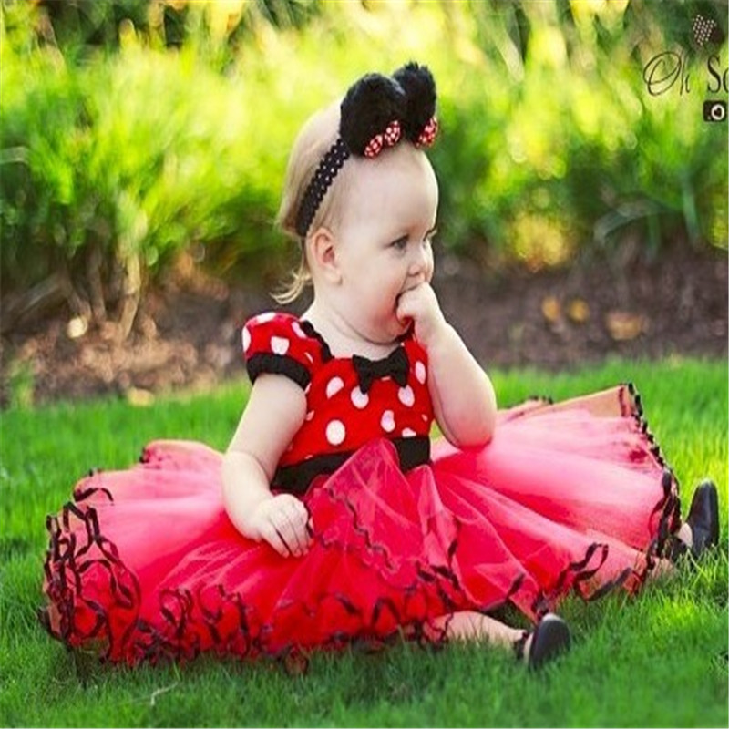 901213bbd316 New Fashion Minnie Design Girls For Party Dress Summer Baby Clothes  Princess Party Kids Dresses For Girl Infant Costume-in Dresses from Mother    Kids