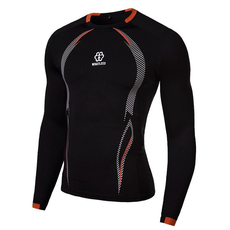Mens T Shirt Boy Base Layer Tights Under Skin Long Sleeve Trainning & Exercise Shirt Sport Gear Gym Tops Fitness Shirt