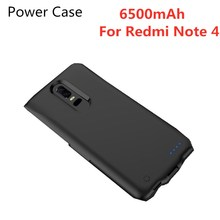 6500mAh Mobile Power Bank shell Battey Case Power Bank Shell for Xiaomi Redmi Note 4 Battery Charger Shell Power Case