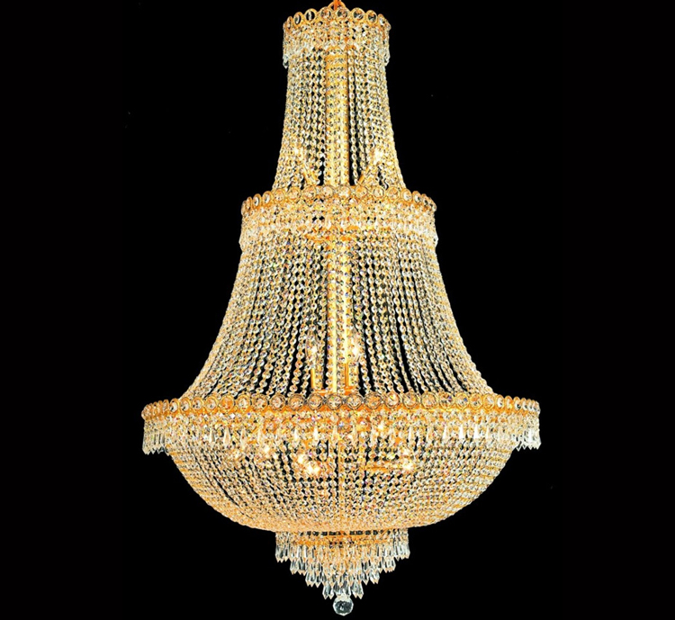 Palace Empire Large Gold Crystal Chandelier Light Modern Chrome Crystal Chandelier Light+Free shipping!