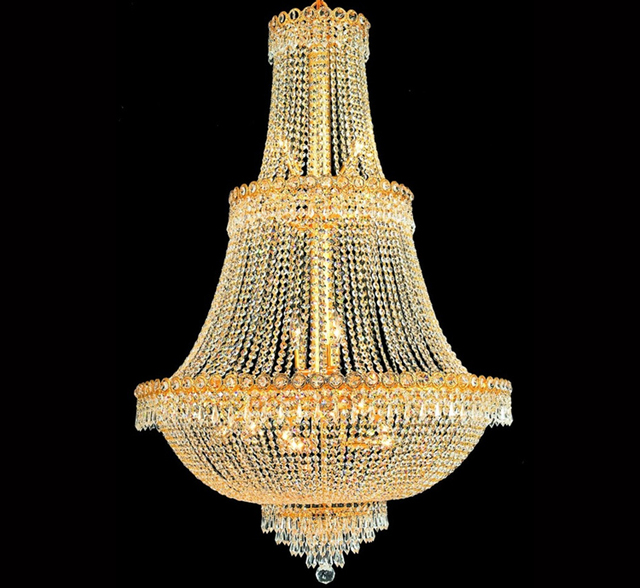 Palace empire large gold crystal chandelier light modern chrome palace empire large gold crystal chandelier light modern chrome crystal chandelier lightfree shipping aloadofball Choice Image