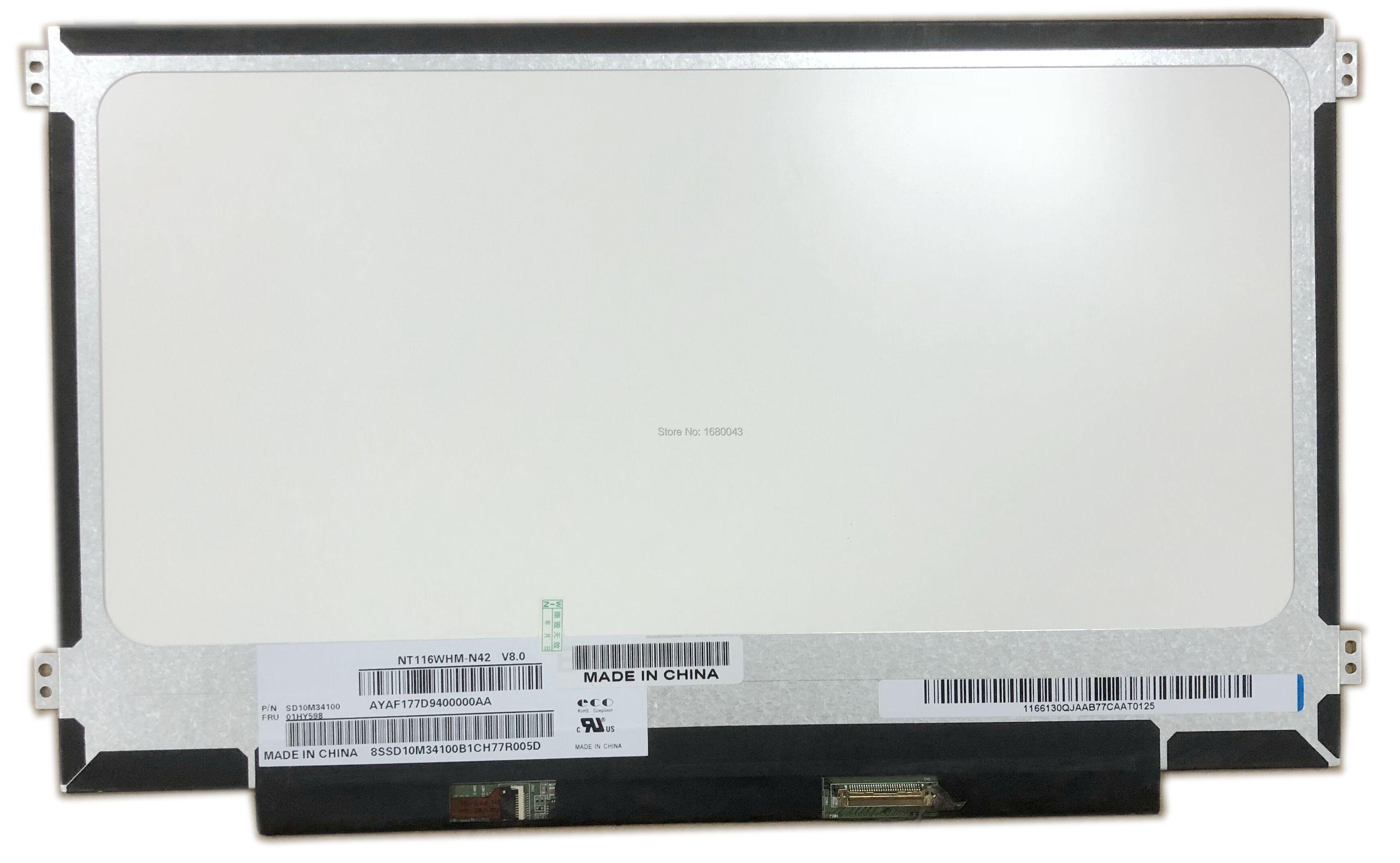 NT116WHM-N42 N12 fit B116XTN02.3 B116XTN02.1 N116BGE-EA1 N116BGE-EB2 N116BGE-EA2 M116NWR1 R7 LED LCD Screen Panel 30PIN eDPNT116WHM-N42 N12 fit B116XTN02.3 B116XTN02.1 N116BGE-EA1 N116BGE-EB2 N116BGE-EA2 M116NWR1 R7 LED LCD Screen Panel 30PIN eDP