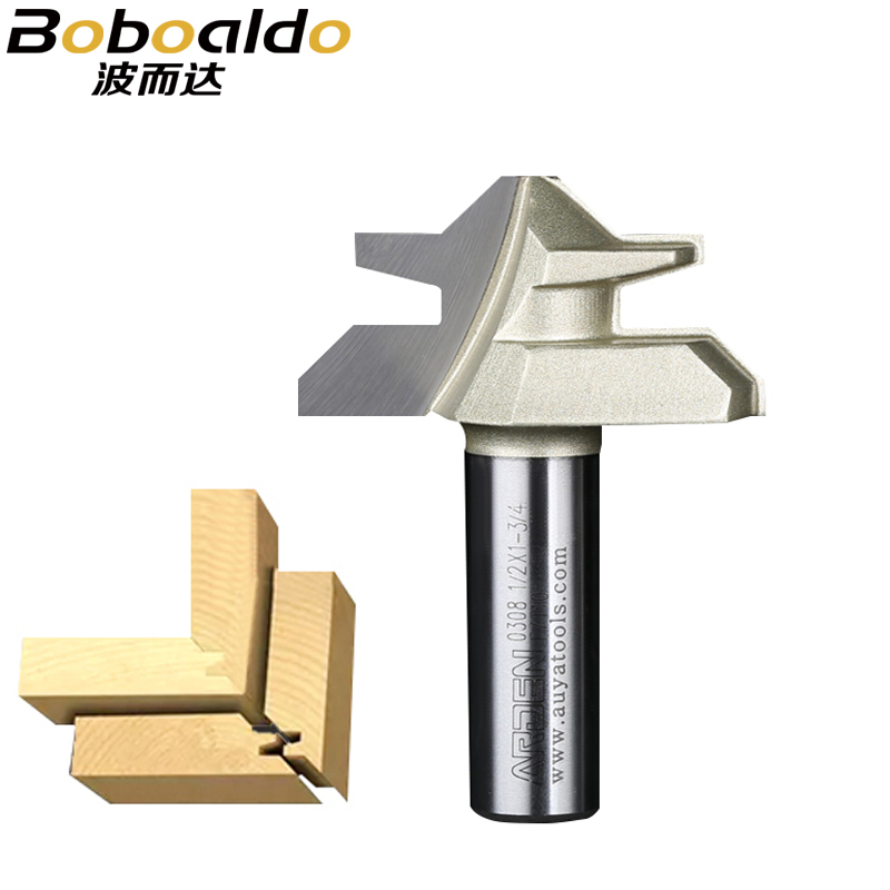 1/2 Shank Two flute Miter Lock Jointer Cutter Fresas Para Router Woodworking Tool 45 Deg Tenon Router Bits Arden Router Bit woodworking tool classical hook arden router bit 1 2 1 1 2 6 18mm shank arden a1811038