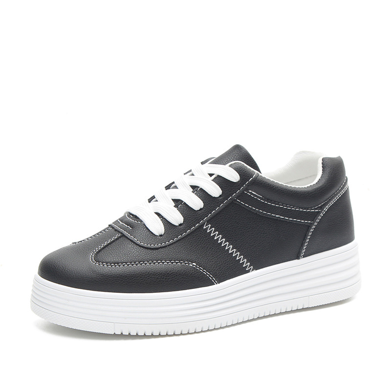 96417d027c 2018 autumn new fashion women shoes casual high platform hole PU leather  striped simple women casual white shoes sneakers-in Women's Vulcanize Shoes  from ...