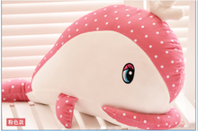 new lovely plush creative dolphin toy cute pink spots whale doll about 52cm