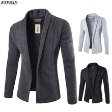 New autumn and winter sweaters cardigan Slim sweater coat young men V-neck sweater solid color casual sweater