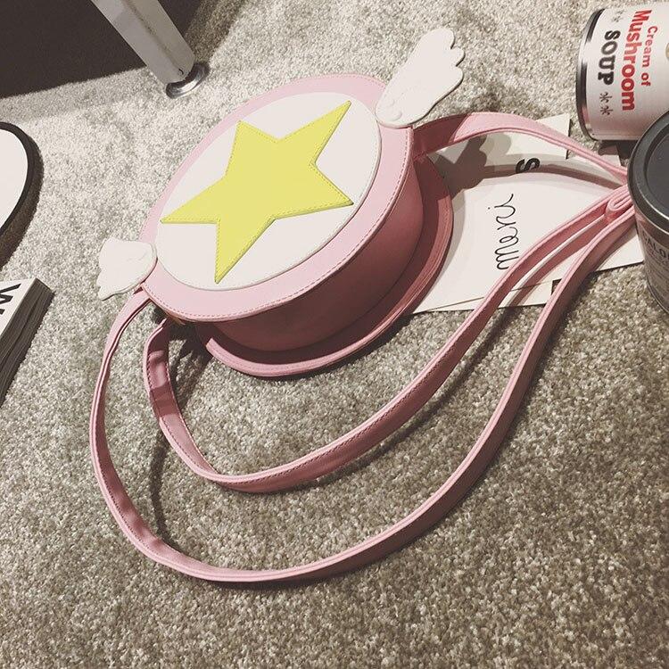 los Schulter Card Mädchen Tasche Handtasche Flügel Sakura Cosplay 50 Nette Kostüm Captor Teile Nachricht Anime qPSxw5A
