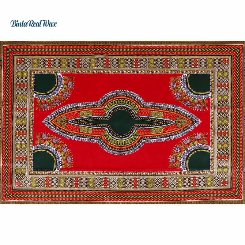 6 Yards 100% Cotton Fabric binta real Wax African Java Wax Print Fabric binta real Wax dutch Fabric For Women Dress 24FJ2014-in Fabric from Home & Garden    1