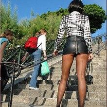 Популярная Сексуальная мини-юбка на молнии, юбка из искусственной кожи, облегающая бедра, тонкая, высокая талия, с поясом, юбка-карандаш, юбка на бедрах, Клубная одежда FX017