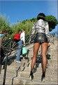 Hot cremallera Sexy Micro MINI falda falda de cuero de imitación de la cadera delgada apretada cintura alta con la correa paquete de lápiz cadera falda del desgaste del Club FX017
