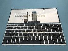الأصلي جديد الإنجليزية لوحة مفاتيح لأجهزة لينوفو FLEX2 فليكس 2 14 فليكس 2 14D محمول الإنجليزية لوحة المفاتيح لوحة مفاتيح بإطار فضي مع الخلفية