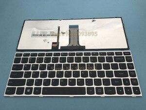 Image 1 - Orijinal Yeni İngilizce klavye için Lenovo FLEX2 Flex 2 14 Flex 2 14D dizüstü İngilizce klavye Ile Gümüş Çerçeve Arkadan Aydınlatmalı