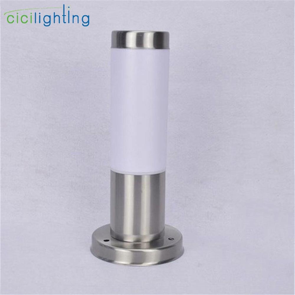 modern outdoor waterproof stainless steel pillar lights, villa door fence post lawn lights,courtyard Pillar Lantern lamp fixture