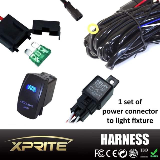 300 Watt 40A Wippschalter Arbeit LED Licht Lampe Bar Verdrahtung ...