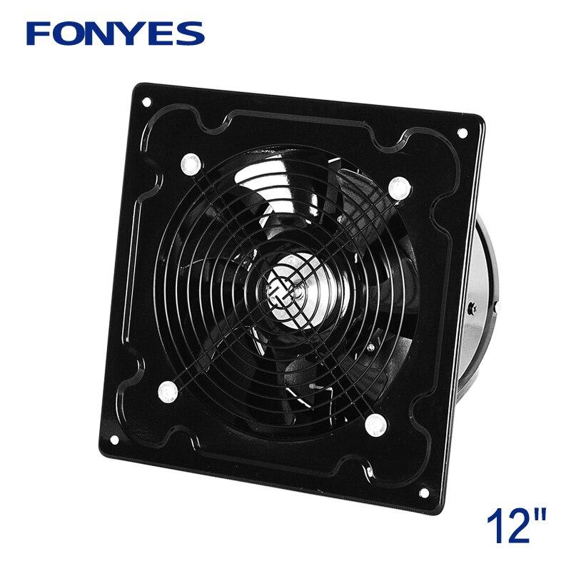 12 inch metal exhaust fan high speed air ventilation window fan for kitchen axial industrial ventilator wall fan extractor 220V
