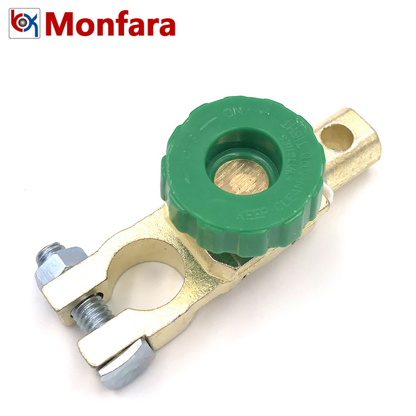Copper Alloy Car Battery Power Turn Off Switch Auto Truck Parts Terminal Cap Interrupt Tool Quick Cut-off Switches Relay Rotary