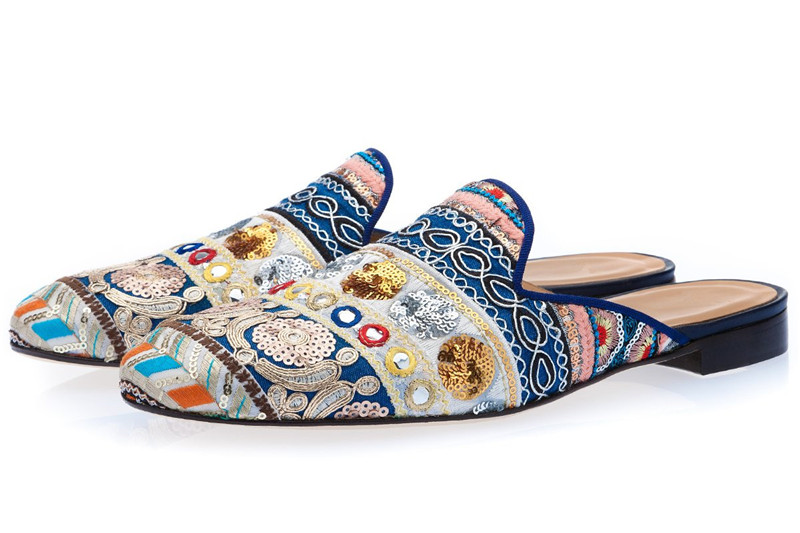 Luxury Ethnic Handmade Male Loafers Mixed Colors Embroidered Glitter Slippers Man Round Toe Slip On Mules Flat Men Casual ShoesLuxury Ethnic Handmade Male Loafers Mixed Colors Embroidered Glitter Slippers Man Round Toe Slip On Mules Flat Men Casual Shoes