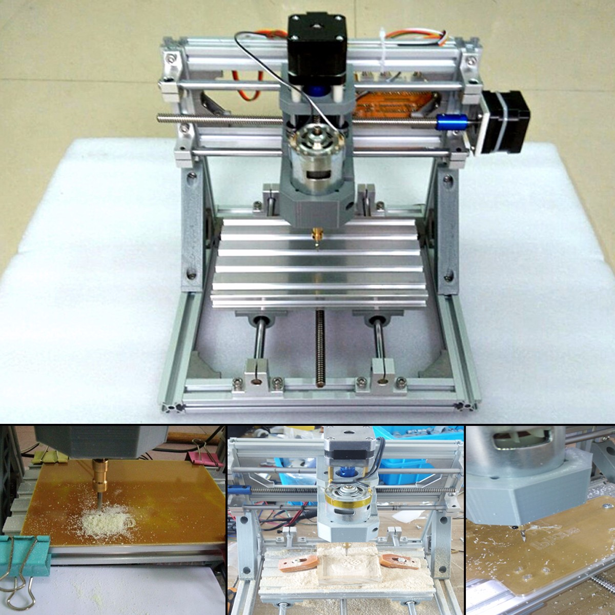 Mini 3 Lasergravure Graveur Machine DC 12V DIY Desktop Hout Cutter/Printer/Power Verstelbare Met 500MW Laser Hoofd - 2